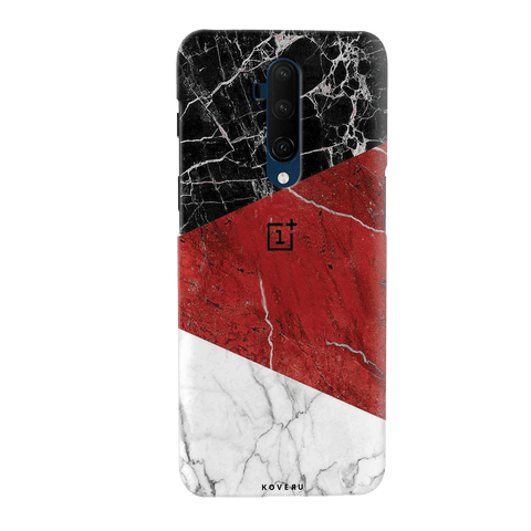Red Geomatric Marble Cover Case for OnePlus 7T Pro