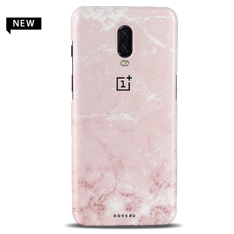 Baby Pink Marble Cover Case For OnePlus 6T