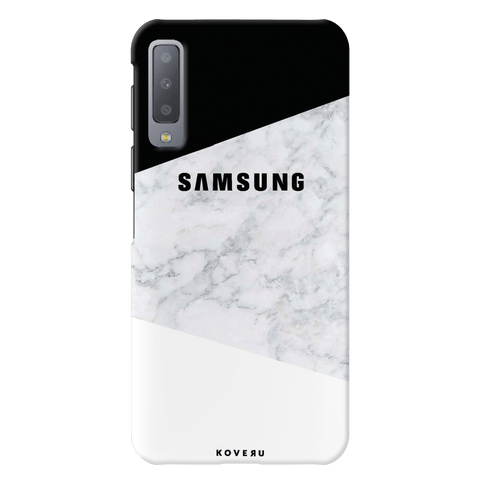 White Marble Cover Case for Samsung Galaxy A7 2018