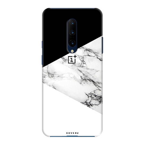 Black and white Marble Cover Case for OnePlus 7 Pro