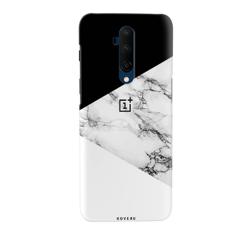 Black and white Marble Cover Case for OnePlus 7T Pro