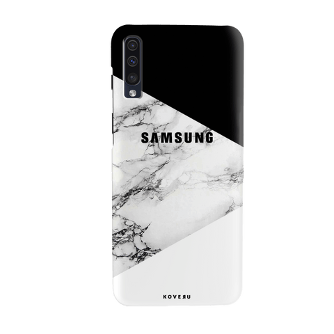 Black and white Marble Cover Case for Samsung Galaxy A70