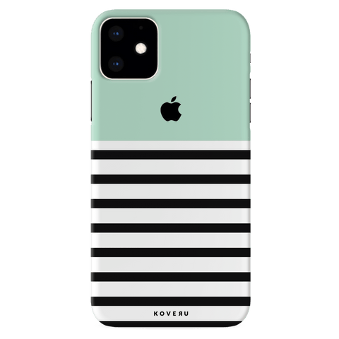 Stripes on Green Cover Case for iPhone 11