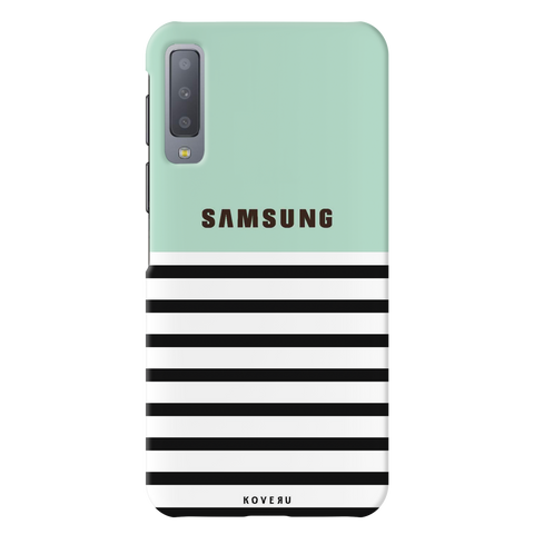Stripes on Green Cover Case for Samsung Galaxy A7 2018