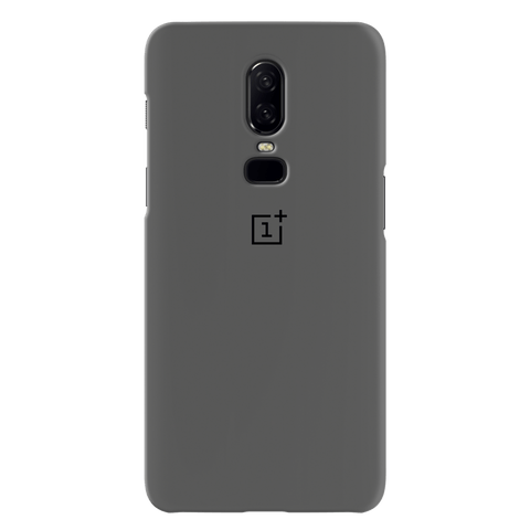 Grey Cover  Case For OnePlus 6