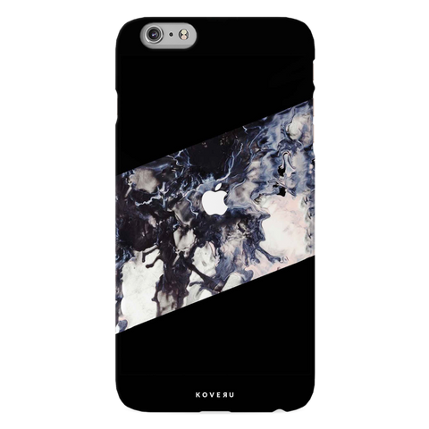 Black Splash Cover Case For iPhone 6/6S Plus
