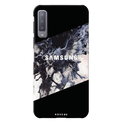 Black Splash Cover Case for Samsung Galaxy A7 2018