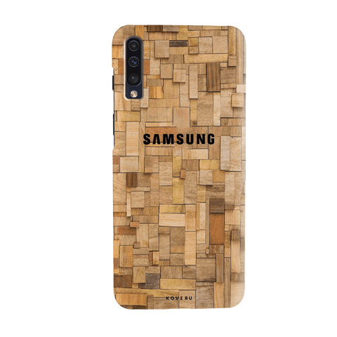 Square Wooden Cover Case for Samsung Galaxy A70