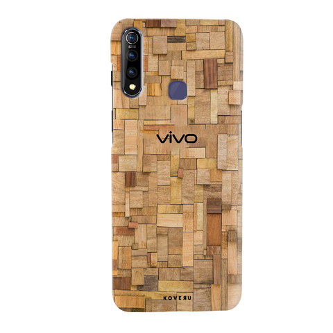 Square Wooden Cover Case for Vivo Z1 Pro