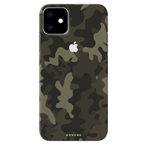 Brown Abstract Camouflage Cover Case for iPhone 11