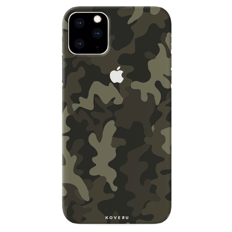 Brown Abstract Camouflage Cover Case for iPhone 11 Pro Max