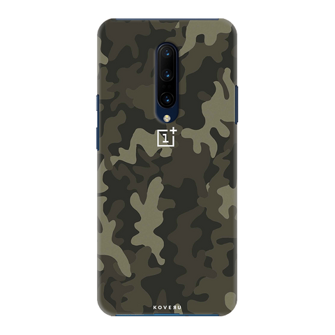 Brown Abstract Camouflage Cover Case for OnePlus 7 Pro
