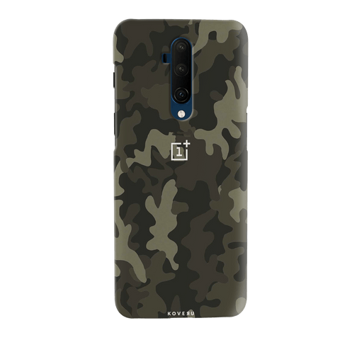 Brown Abstract Camouflage Cover Case for OnePlus 7T Pro