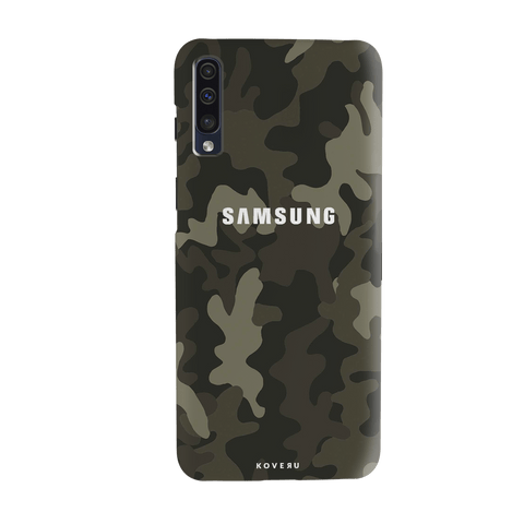 Brown Abstract Camouflage Cover Case for Samsung Galaxy A70