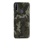 Brown Abstract Camouflage Cover Case for Vivo Z1 Pro