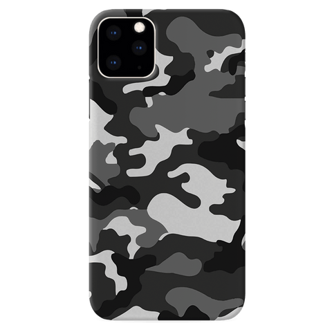 Black Abstract Camouflage Cover Case for iPhone 11 Pro
