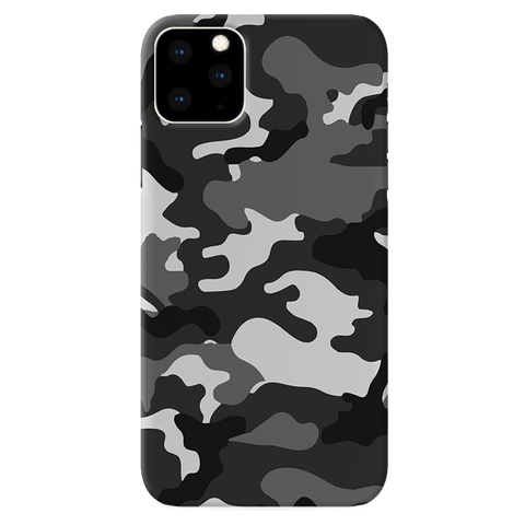 Black Abstract Camouflage Cover Case for iPhone 11 Pro Max
