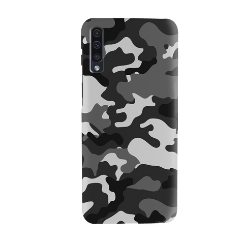 Black Abstract Camouflage Cover Case for Samsung Galaxy A70