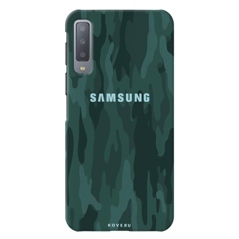 Green Camouflage Cover Case for Samsung Galaxy A7 2018