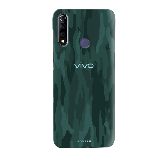 Green Camouflage Cover Case for Vivo Z1 Pro