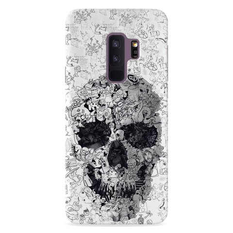 Skull Doodle Cover Case For  Samsung Galaxy S9 Plus