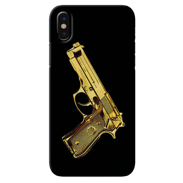 Golden Vintage Gun Cover Case for iPhone XS
