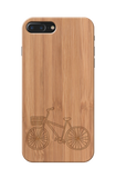 Wooden Engraved Cycle Cover Case for Iphone 7 plus
