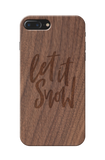 Let it snow Wooden Engraved Cover Case for Iphone 7 plus