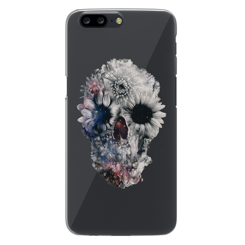 Skull Floral Clear Case for OnePlus 5