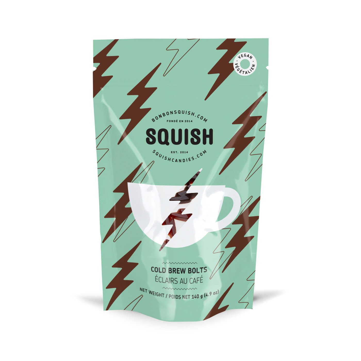 SQUISH Candies Vegan Cold Brew Bolts