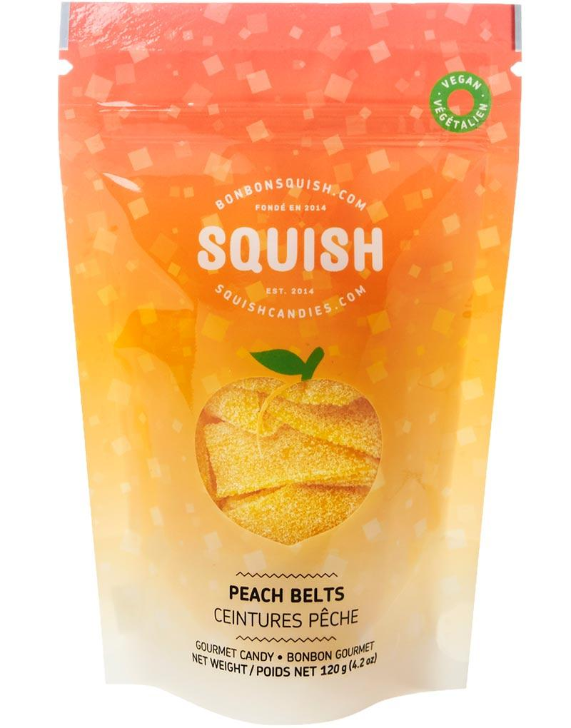 SQUISH Candies Vegan Peach Belts