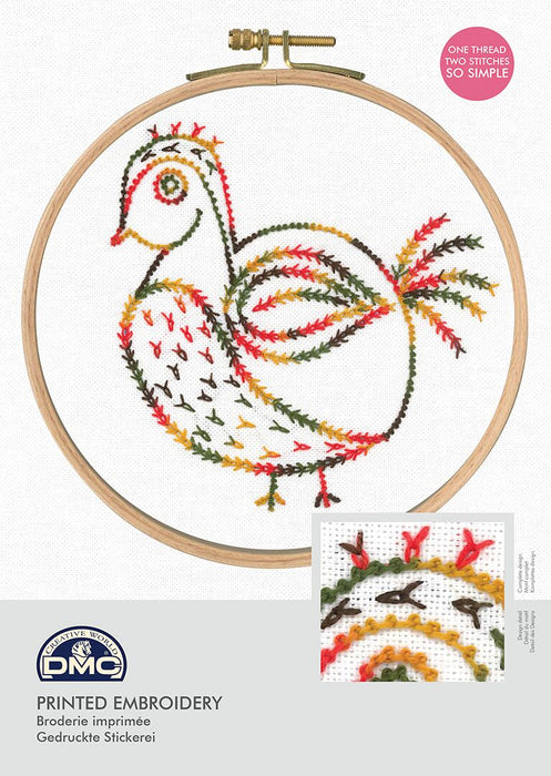 Printed Embroidery Kit - Little Birds, Why Am I Here?
