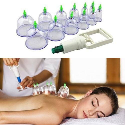 Vacuum Body Cupping Set - 12 Cups/ Set
