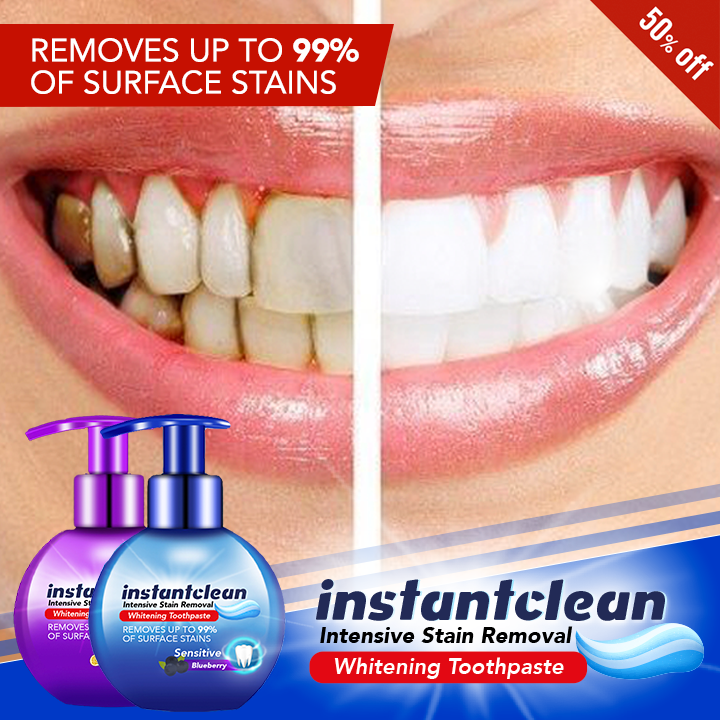 Instant Clean™ Intensive Stain Removal Whitening Toothpaste