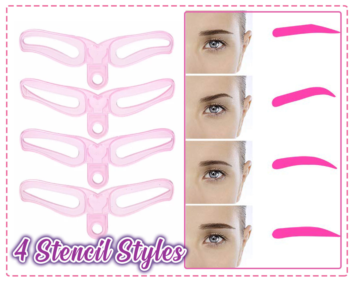 Instant Brow Shaping Stencil (4PCS/Set)