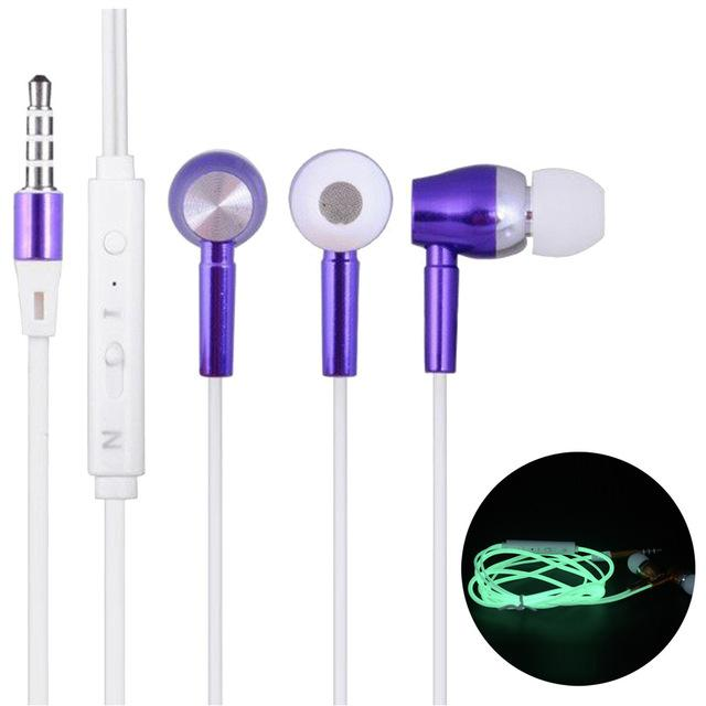 Glow in Dark Luminous Stereo Earphones