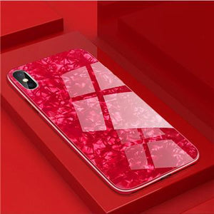 Fancy Tempered Glass iPhone Case