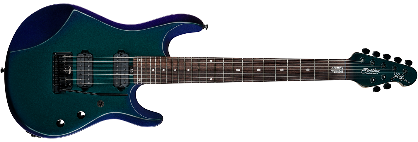 The JP70 guitar in Mystic Dream front details.