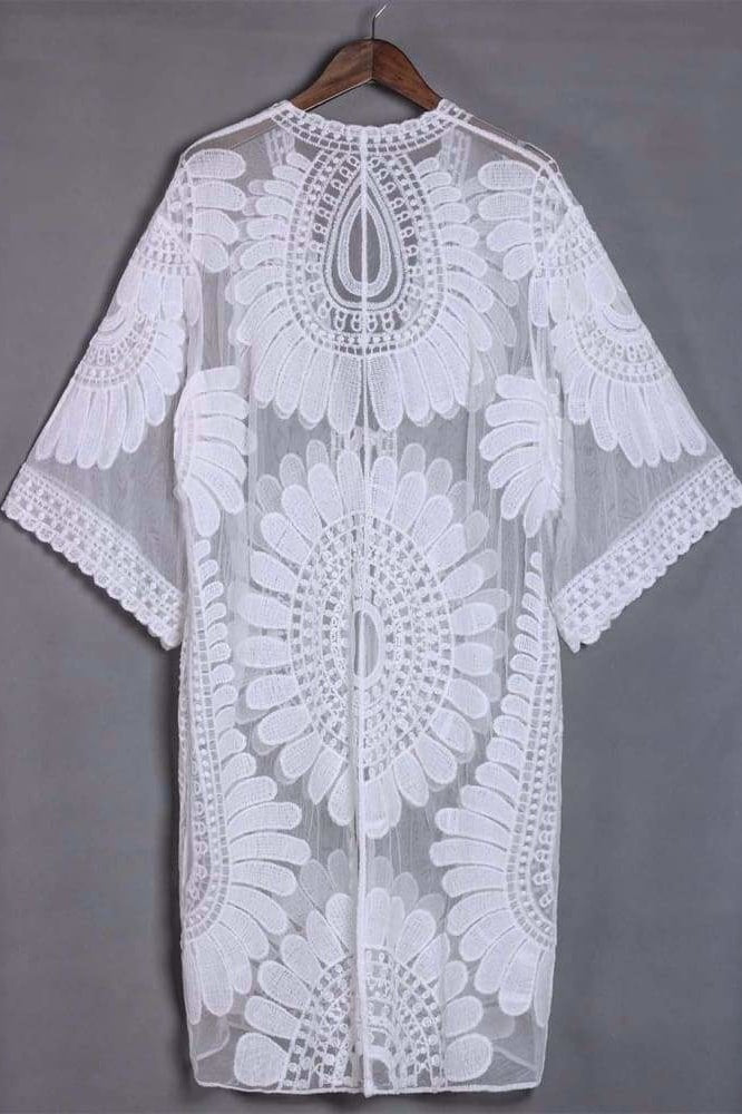 Capri Embroidered Cover-Up - Cover-Ups