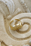 Gold Rose Adjustable Ring - Jewelry