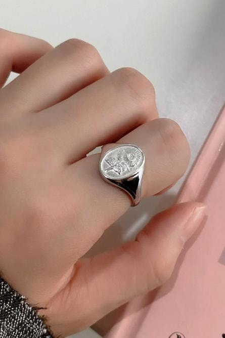 Floral Sterling Silver Ring - Jewelry