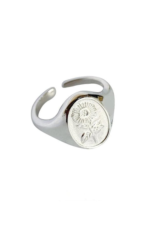 Floral Sterling Silver Ring - Silver - Jewelry