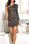 Debbie Sequin Mini Dress (Multi) - Clothing