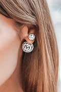 Dianna Double Stud - White Gold - Jewelry