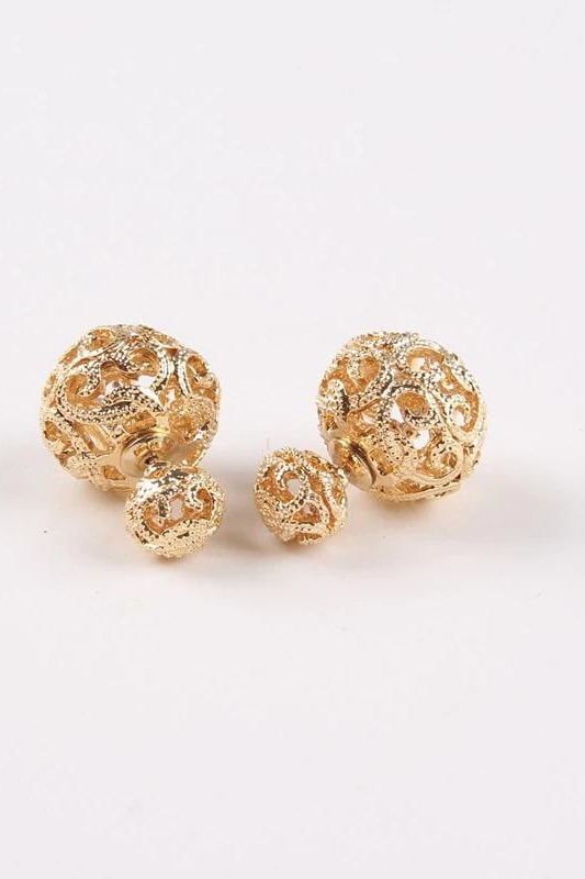 Dianna Double Stud - Gold - Jewelry