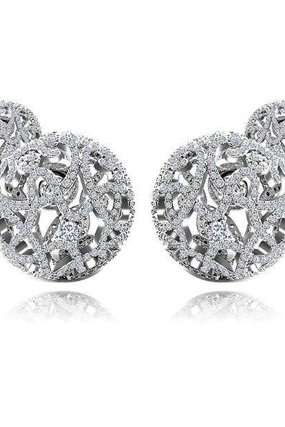Dianna Double Stud - White Gold Diamond / One size - Jewelry