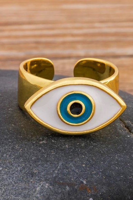 Evil Eye Adjustable Ring - Jewelry