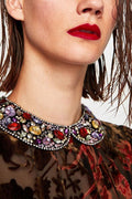 Jeweled Collar Necklace - Jewelry