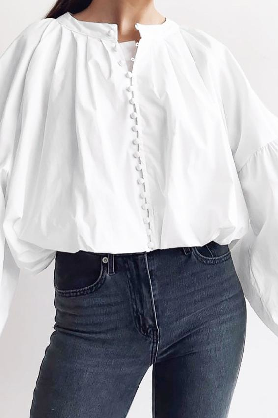 Katrine Button Up Blouse - Clothing