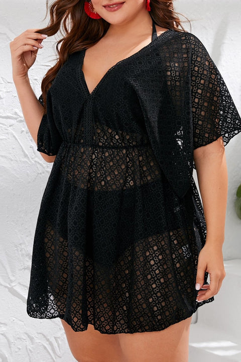 Layla Floral Lace Cover Up - Plus Size